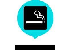 喫煙スペース有り